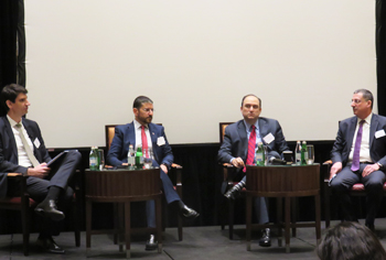 L-R Emir Mujkic, director, Insurance Ratings, S&P Global, Fadi Hindi, CEO, Takaful Emarat, Anil Dixit, senior vice president, Investments, ADNIC, Ayman El Hout, CEO, UAE, Marsh at the S&P Global Middle East insurance briefing.